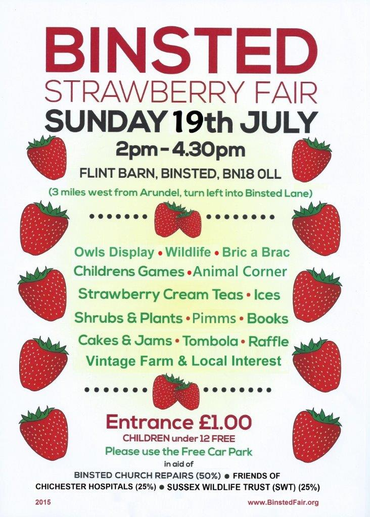Binsted Strawberry Fair dates and times